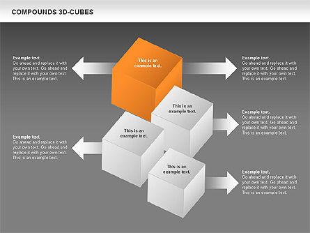 Compound 3D Cubes, Slide 13, 00679, Shapes — PoweredTemplate.com