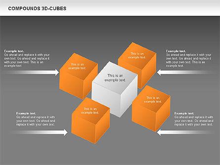Compound 3D Cubes, Slide 15, 00679, Shapes — PoweredTemplate.com