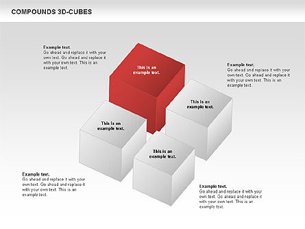 Compound 3D Cubes, Slide 4, 00679, Shapes — PoweredTemplate.com