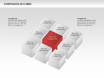 Compound 3D Cubes, Slide 5, 00679, Shapes — PoweredTemplate.com