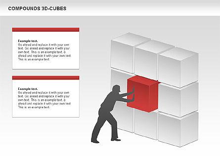 Compound 3D Cubes, Slide 6, 00679, Shapes — PoweredTemplate.com