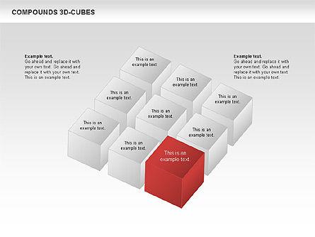 Compound 3D Cubes, Slide 7, 00679, Shapes — PoweredTemplate.com