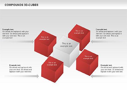 Compound 3D Cubes, Slide 8, 00679, Shapes — PoweredTemplate.com