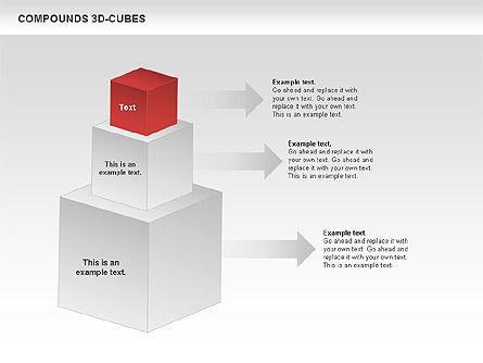 Compound 3D Cubes, Slide 9, 00679, Shapes — PoweredTemplate.com