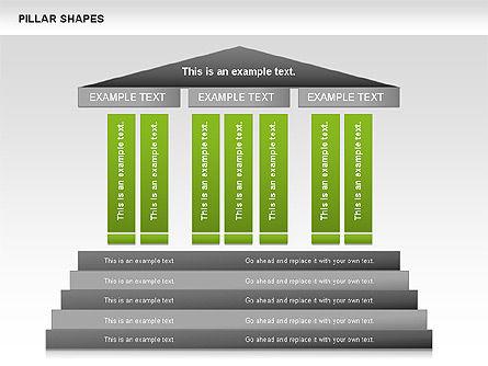 Pillar Shapes, 00681, Organizational Charts — PoweredTemplate.com