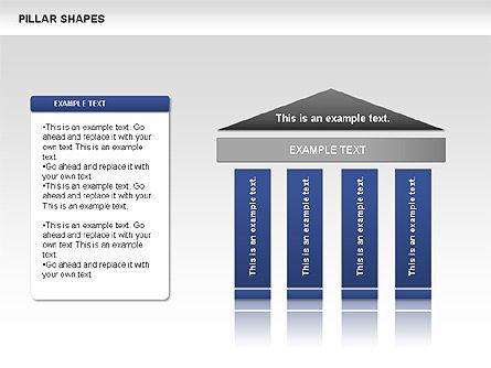 Pillar Shapes, Slide 2, 00681, Organizational Charts — PoweredTemplate.com