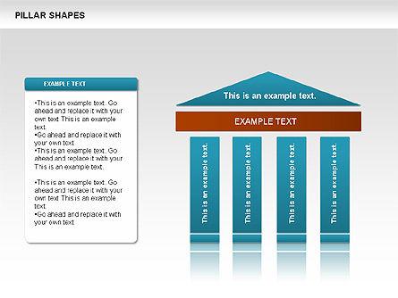 Pillar Shapes, Slide 4, 00681, Organizational Charts — PoweredTemplate.com