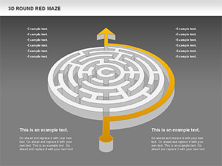3D Round Red Maze, Slide 11, 00684, Business Models — PoweredTemplate.com