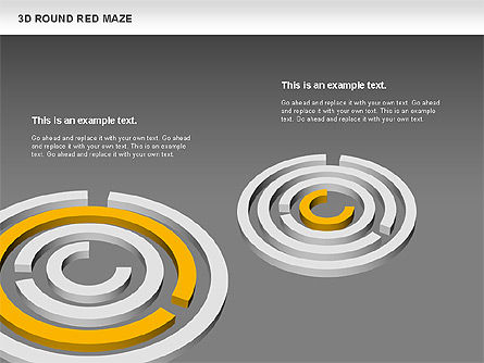 3D Round Red Maze, Slide 12, 00684, Business Models — PoweredTemplate.com