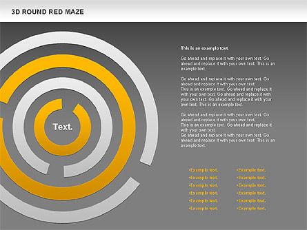 3D Round Red Maze, Slide 14, 00684, Business Models — PoweredTemplate.com