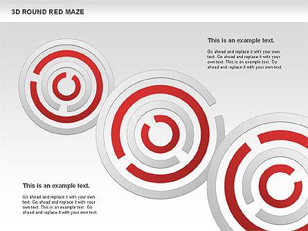 3D Round Red Maze, Slide 5, 00684, Business Models — PoweredTemplate.com
