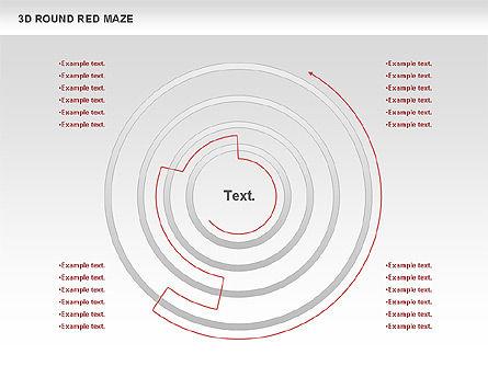 3D Round Red Maze, Slide 6, 00684, Business Models — PoweredTemplate.com