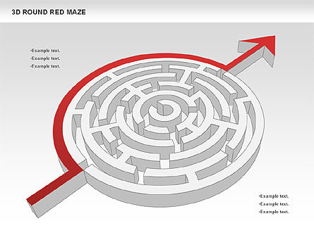 3D Round Red Maze, Slide 7, 00684, Business Models — PoweredTemplate.com