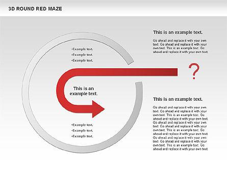 3D Round Red Maze, Slide 8, 00684, Business Models — PoweredTemplate.com