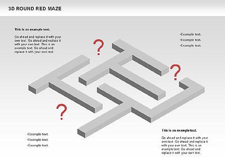 3D Round Red Maze, Slide 9, 00684, Business Models — PoweredTemplate.com