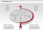 Business Models: 3D Round Red Maze #00684