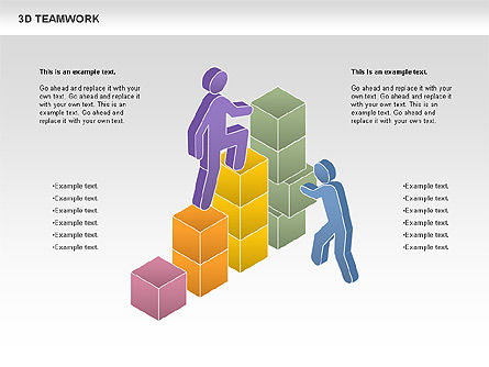 3D Teamwork Diagram, 00686, Business Models — PoweredTemplate.com