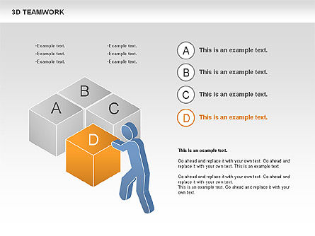 3D Teamwork Diagram, Slide 2, 00686, Business Models — PoweredTemplate.com