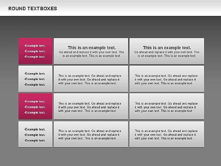Tables and Text Boxes, Slide 16, 00690, Text Boxes — PoweredTemplate.com