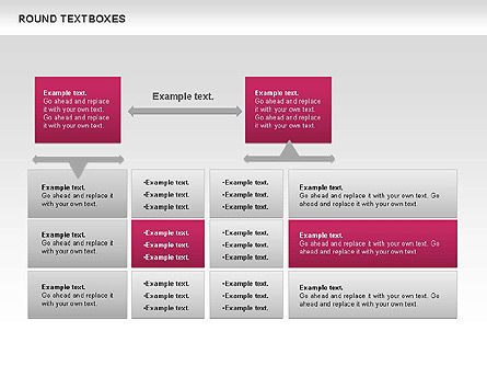 Tables and Text Boxes, Slide 6, 00690, Text Boxes — PoweredTemplate.com