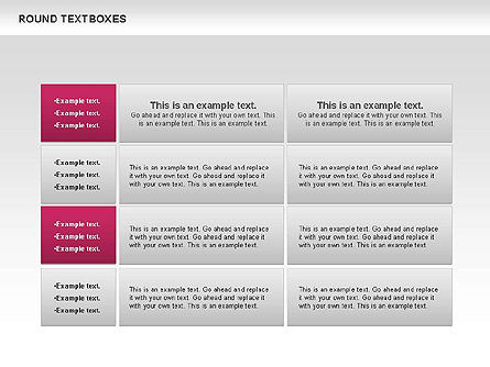 Tables and Text Boxes, Slide 7, 00690, Text Boxes — PoweredTemplate.com