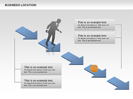 Business Location, Slide 3, 00691, Silhouettes — PoweredTemplate.com