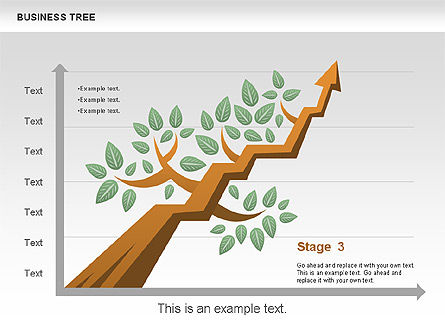 Business Tree Stage Diagram, Slide 10, 00692, Stage Diagrams — PoweredTemplate.com