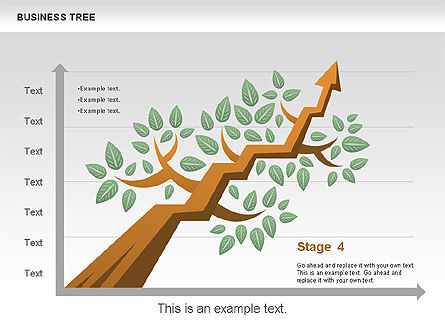 Business Tree Stage Diagram, Slide 11, 00692, Stage Diagrams — PoweredTemplate.com