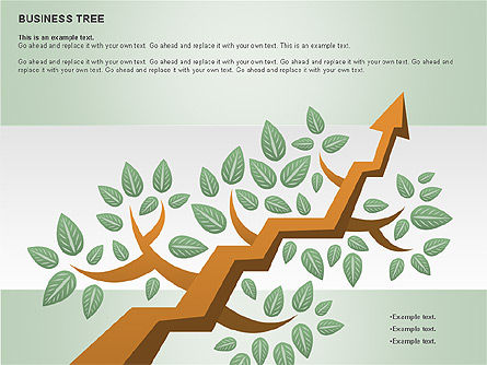 Business Tree Stage Diagram, Slide 13, 00692, Stage Diagrams — PoweredTemplate.com