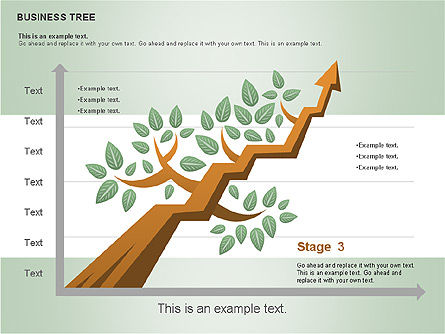 Business Tree Stage Diagram, Slide 14, 00692, Stage Diagrams — PoweredTemplate.com