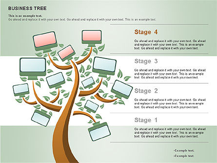 Business Tree Stage Diagram, Slide 15, 00692, Stage Diagrams — PoweredTemplate.com