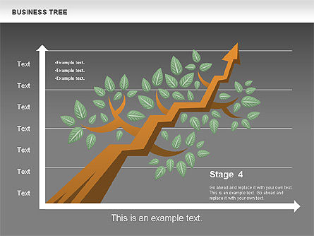 Business Tree Stage Diagram, Slide 17, 00692, Stage Diagrams — PoweredTemplate.com