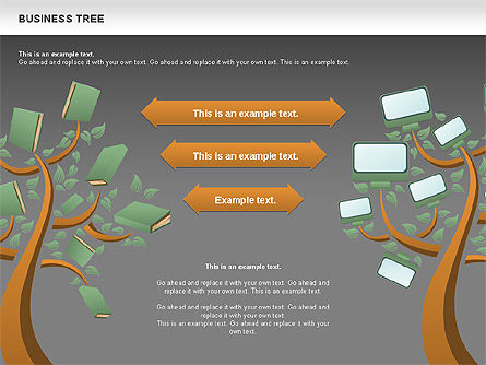 Business Tree Stage Diagram, Slide 18, 00692, Stage Diagrams — PoweredTemplate.com