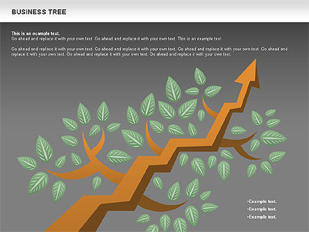 Business Tree Stage Diagram, Slide 19, 00692, Stage Diagrams — PoweredTemplate.com