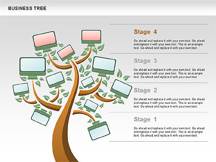 Business Tree Stage Diagram Slide 4