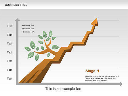 Business Tree Stage Diagram, Slide 8, 00692, Stage Diagrams — PoweredTemplate.com