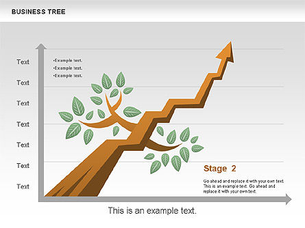 Business Tree Stage Diagram, Slide 9, 00692, Stage Diagrams — PoweredTemplate.com