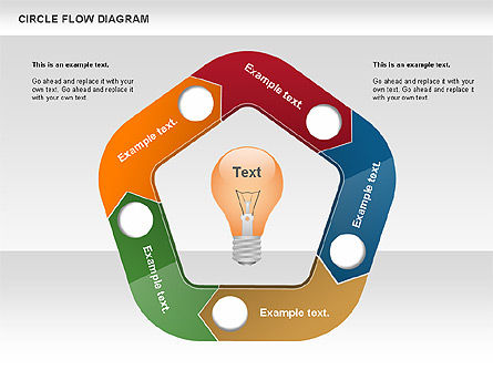 circle flow diagram for powerpoint presentations download now 00694