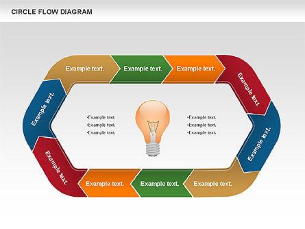 Circle Flow Diagram, Slide 2, 00694, Business Models — PoweredTemplate.com