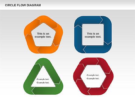 Circle Flow Diagram, Slide 3, 00694, Business Models — PoweredTemplate.com