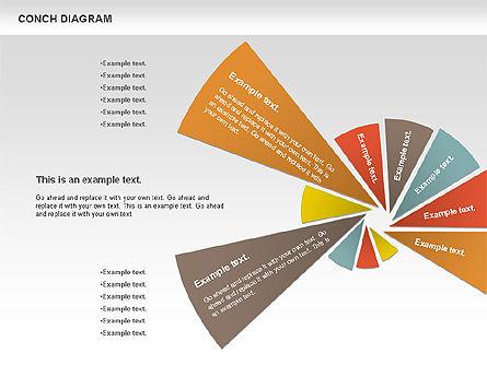 Conch Diagram, Slide 10, 00695, Business Models — PoweredTemplate.com