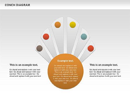 Conch Diagram, Slide 9, 00695, Business Models — PoweredTemplate.com