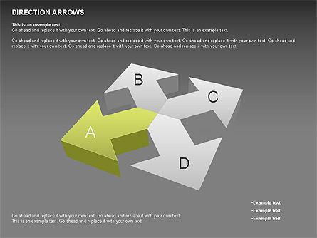 Direction Arrows, Slide 10, 00696, Shapes — PoweredTemplate.com