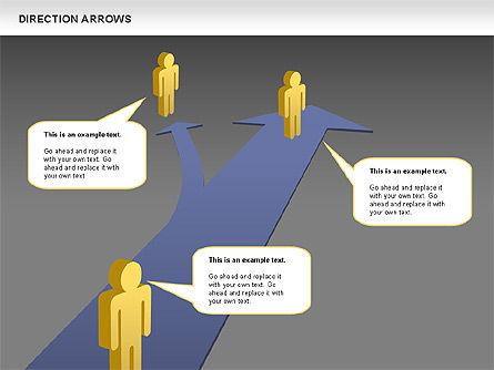 Direction Arrows, Slide 11, 00696, Shapes — PoweredTemplate.com