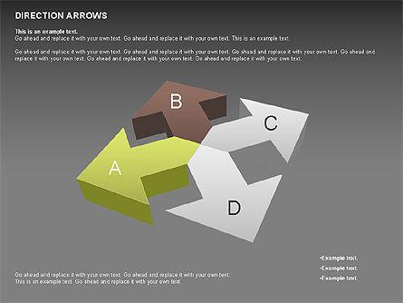 Direction Arrows, Slide 12, 00696, Shapes — PoweredTemplate.com