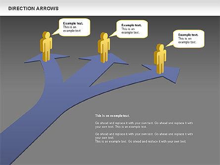 Direction Arrows, Slide 13, 00696, Shapes — PoweredTemplate.com