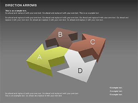 Direction Arrows, Slide 14, 00696, Shapes — PoweredTemplate.com