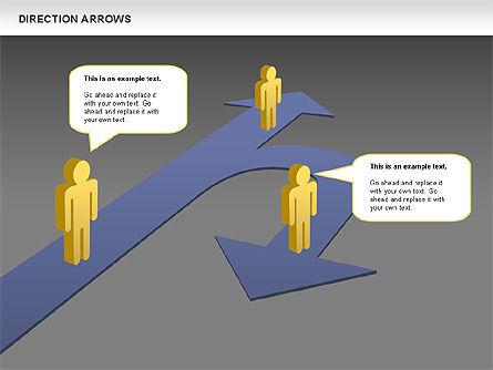 Direction Arrows, Slide 15, 00696, Shapes — PoweredTemplate.com