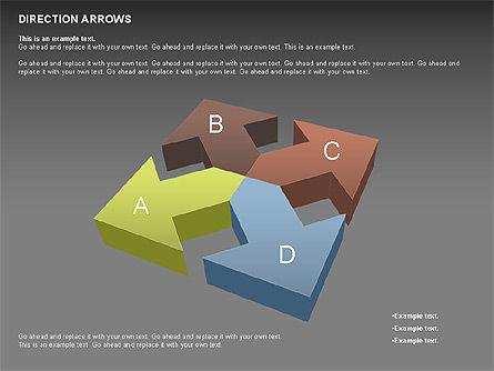 Direction Arrows, Slide 16, 00696, Shapes — PoweredTemplate.com