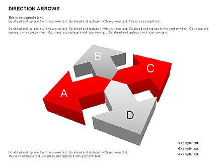 Direction Arrows, Slide 6, 00696, Shapes — PoweredTemplate.com